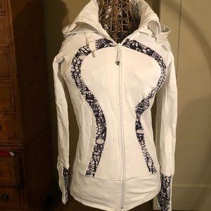 Lululemon stride jacket glacier lace & white sz 6